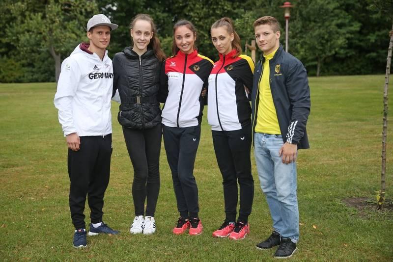 Olympiakader des BTFB beim Training in Kienbaum